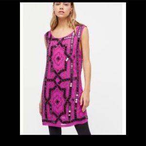 Free People Speak Easy Beaded Dress Pink